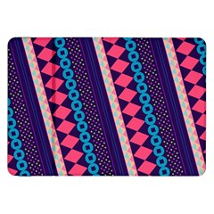 Purple And Pink Retro Geometric Pattern Samsung Galaxy Tab 8 9  P7300 Flip Case