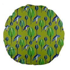 Tropical Floral Pattern Large 18  Premium Round Cushions