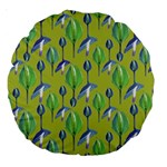 Tropical Floral Pattern Large 18  Premium Round Cushions Back