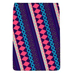 Purple And Pink Retro Geometric Pattern Flap Covers (s)