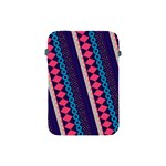Purple And Pink Retro Geometric Pattern Apple iPad Mini Protective Soft Cases Front