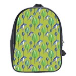 Tropical Floral Pattern School Bags (XL)  Front