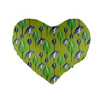 Tropical Floral Pattern Standard 16  Premium Heart Shape Cushions