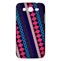 Purple And Pink Retro Geometric Pattern Samsung Galaxy Mega 5.8 I9152 Hardshell Case