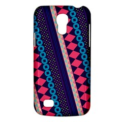 Purple And Pink Retro Geometric Pattern Galaxy S4 Mini by DanaeStudio