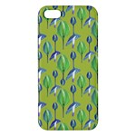 Tropical Floral Pattern Apple iPhone 5 Premium Hardshell Case