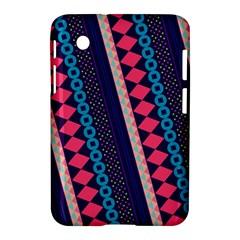 Purple And Pink Retro Geometric Pattern Samsung Galaxy Tab 2 (7 ) P3100 Hardshell Case