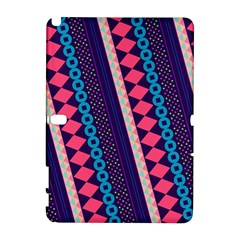 Purple And Pink Retro Geometric Pattern Samsung Galaxy Note 10 1 (p600) Hardshell Case by DanaeStudio