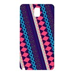 Purple And Pink Retro Geometric Pattern Samsung Galaxy Note 3 N9005 Hardshell Back Case Front