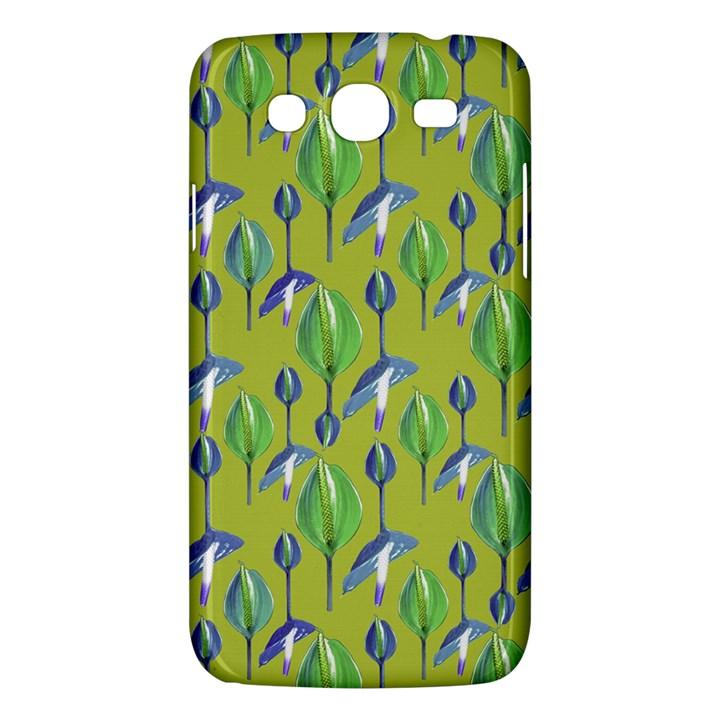 Tropical Floral Pattern Samsung Galaxy Mega 5.8 I9152 Hardshell Case