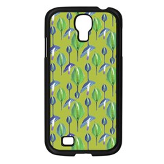 Tropical Floral Pattern Samsung Galaxy S4 I9500/ I9505 Case (Black)