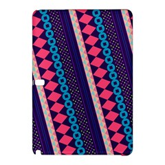 Purple And Pink Retro Geometric Pattern Samsung Galaxy Tab Pro 12 2 Hardshell Case by DanaeStudio