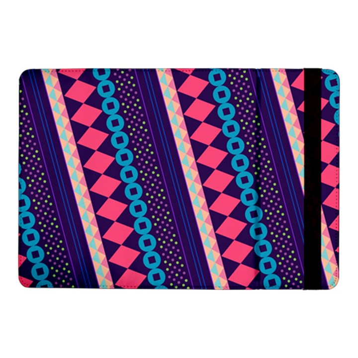 Purple And Pink Retro Geometric Pattern Samsung Galaxy Tab Pro 10.1  Flip Case