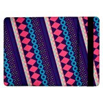 Purple And Pink Retro Geometric Pattern Samsung Galaxy Tab Pro 12.2  Flip Case Front