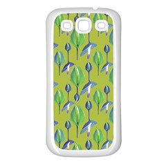Tropical Floral Pattern Samsung Galaxy S3 Back Case (White)