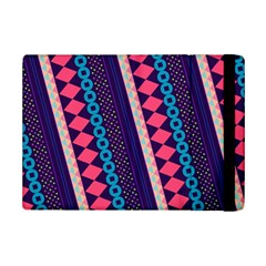 Purple And Pink Retro Geometric Pattern iPad Mini 2 Flip Cases