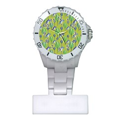 Tropical Floral Pattern Plastic Nurses Watch
