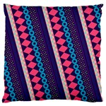 Purple And Pink Retro Geometric Pattern Large Flano Cushion Case (One Side) Front