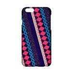 Purple And Pink Retro Geometric Pattern Apple iPhone 6/6S Hardshell Case
