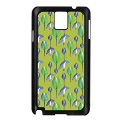 Tropical Floral Pattern Samsung Galaxy Note 3 N9005 Case (Black)