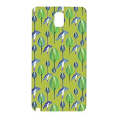 Tropical Floral Pattern Samsung Galaxy Note 3 N9005 Hardshell Back Case