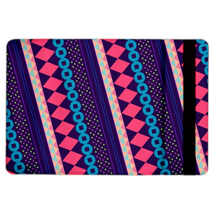 Purple And Pink Retro Geometric Pattern iPad Air 2 Flip