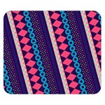 Purple And Pink Retro Geometric Pattern Double Sided Flano Blanket (Small)  50 x40 Blanket Back