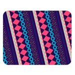 Purple And Pink Retro Geometric Pattern Double Sided Flano Blanket (Large)   Blanket Back