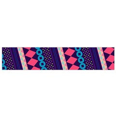 Purple And Pink Retro Geometric Pattern Flano Scarf (small)  by DanaeStudio