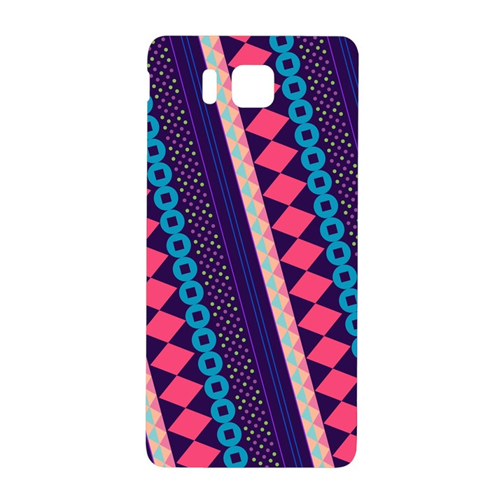 Purple And Pink Retro Geometric Pattern Samsung Galaxy Alpha Hardshell Back Case