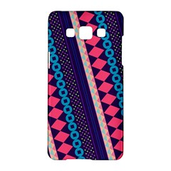 Purple And Pink Retro Geometric Pattern Samsung Galaxy A5 Hardshell Case  by DanaeStudio