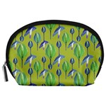 Tropical Floral Pattern Accessory Pouches (Large)  Front