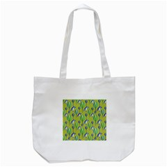 Tropical Floral Pattern Tote Bag (White)