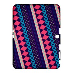 Purple And Pink Retro Geometric Pattern Samsung Galaxy Tab 4 (10 1 ) Hardshell Case  by DanaeStudio