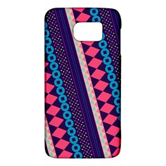 Purple And Pink Retro Geometric Pattern Galaxy S6