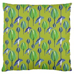 Tropical Floral Pattern Large Flano Cushion Case (Two Sides)