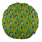 Tropical Floral Pattern Large 18  Premium Flano Round Cushions