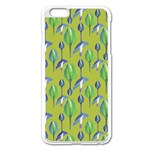 Tropical Floral Pattern Apple iPhone 6 Plus/6S Plus Enamel White Case Front