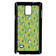 Tropical Floral Pattern Samsung Galaxy Note 4 Case (Black)