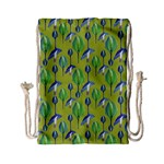 Tropical Floral Pattern Drawstring Bag (Small)