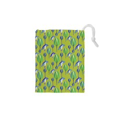 Tropical Floral Pattern Drawstring Pouches (XS)