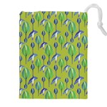 Tropical Floral Pattern Drawstring Pouches (XXL)