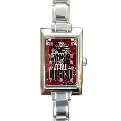 Panic At The Disco Poster Rectangle Italian Charm Watch by Onesevenart