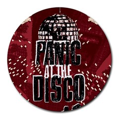 Panic At The Disco Poster Round Mousepads by Onesevenart