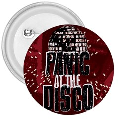 Panic At The Disco Poster 3  Buttons by Onesevenart
