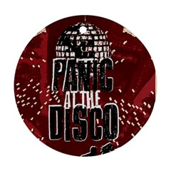 Panic At The Disco Poster Ornament (round)  by Onesevenart