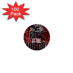 Panic At The Disco Poster 1  Mini Buttons (100 Pack)  by Onesevenart