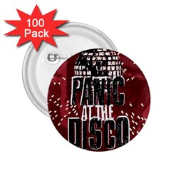 Panic At The Disco Poster 2 25  Buttons (100 Pack)  by Onesevenart