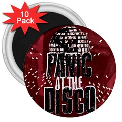 Panic At The Disco Poster 3  Magnets (10 Pack)  by Onesevenart