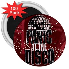 Panic At The Disco Poster 3  Magnets (100 Pack) by Onesevenart